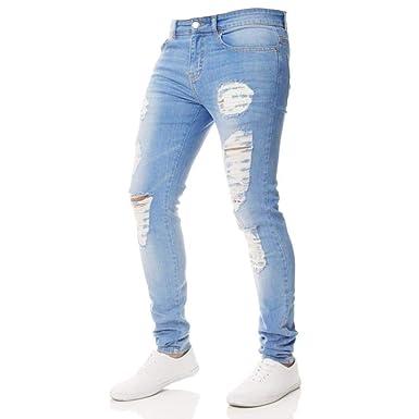 Pantalones Hombre Jeans Slim Fit Pantalones Casuales Hombres ...
