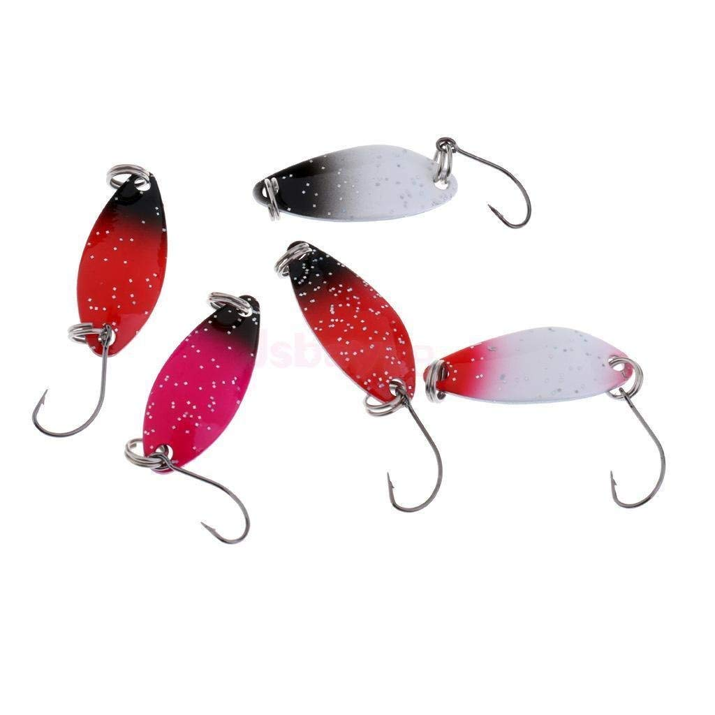 10pcs Fishing Sequins Lures Spoons Hard Bait for Freshwater Saltwater Metal