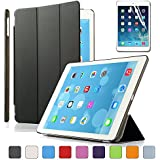 Besdata Ultra Thin Magnetic Smart Cover & Clear Back Case for Apple iPad Air(5th Gen)+Screen Protector+Stylus+Cleaning Cloth, Black - PT4100
