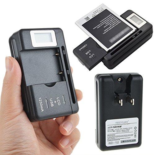 CJP-Geek New Digital LCD Universal Cell Phone Battery Charger USB Port ()