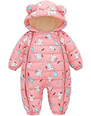 Baby Warm Snowsuit Jumpsuit Outfit Hoody Coat Winter Infant Rompers Toddler Clothing Bodysuit Cartoon Puffer Onesie