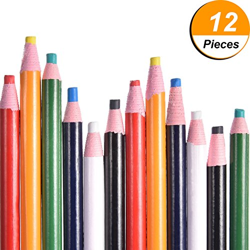 Read About Frienda 12 Pieces Sewing Mark Pencil Tailor Chalk Free Cutting Chalk Sewing Fabric Pencil...