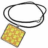 3dRose Sandy Mertens Food Designs - Lemon, Lime and Orange Slices Pattern - Necklace With Rectangle Pendant (ncl_48755_1)