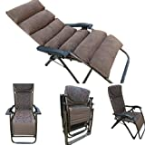 'Amaze' (With Cushion) Folding Zero Gravity living room Reclining Recliner push back easy relax portable Outdoor Indoor Sea beach swimming pool Garden Farm House home Sun bed lounger Chair, Cushion Chair - 08C - Brown