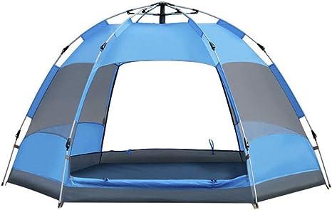 YUHT Tiendas de campaña Familiares, Tienda de campaña Familiar 3-5 Personas Big Space Backpacking Dome Tienda de Playa 210 Oxford Tarpaulin Dome Tent: Amazon.es: Deportes y aire libre