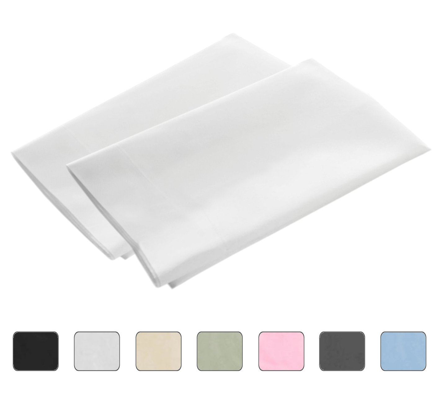 Cheap white pillowcases for crafts - White Standard 4 Hems Set Of 2 Pillowcases 300 Thread Count 100 Long Staple Egyptian Cotton Luxury Hotel Quality 21x32 Fits 20x26
