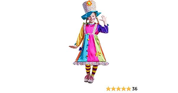 Lolli the Girls Clown Child Costume Neon Polka Dot Hoop Size Small 4-6