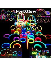 Glow Sticks 220 Piece Premium Party Pack For an Awesome Party! - Bracelets, Necklace, Eyeglasses, Headbands, Bunny Ears, Hat connectors & Anything In Your Imagination!