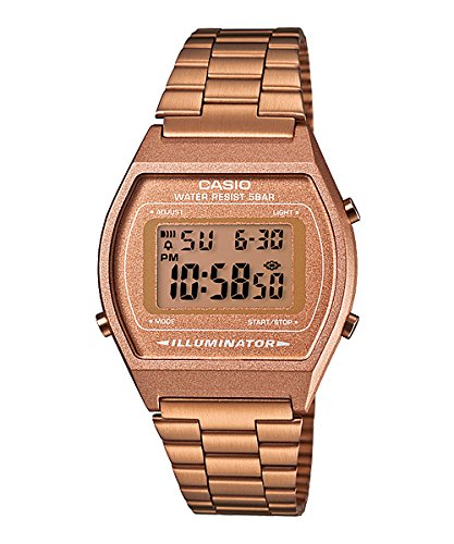 Reloj Casio digital Retro caballero correa acero inoxidable Color Oro Rosa C0001: Amazon.es: Relojes