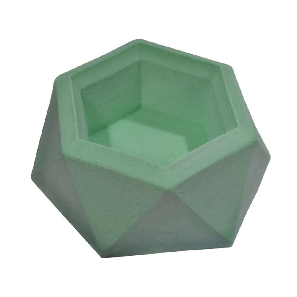 Yunn Silicone Mold Plant Flower Pot, DIY Ashtray Candle Holder Mold, Silicone Mold Gypsum Cement Fleshy Flower Bonsai