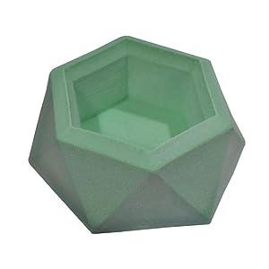 DIY Silicone Flower Pot Mold Diamond Shaped Molds for Candle Holder Making Succulent Plants Planter Pot Mould Concrete Moulds Color Random (Color: A)