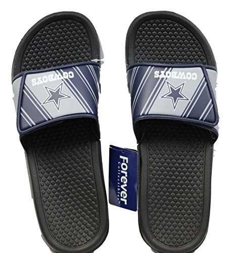 Dallas Cowboys Men's Legacy Shower Sport Slide Flip Flop Sandals (X-Large)