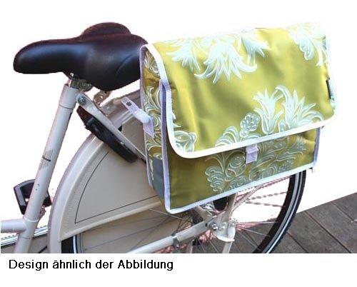 BASIL BLOSSOM Fahrradtasche Schultertasche Postmenbag 12l wasserdicht grün