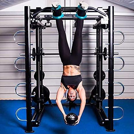Neoprengepolsterte Armh/ängeschlaufen Bauchtrainingsschlaufen C.P.Sports Gravity-Boots in schwarz und blau mit Schnellspannverschluss zur Befestigung am Fu/ßgelenk