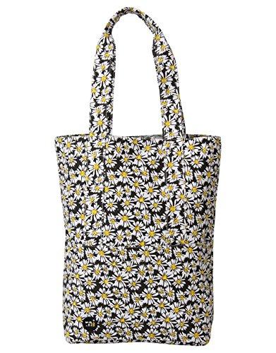 40 Daisycrazy Crepe Pac Bandolera 5 Tote 17 Litros cm Blk Bag Coral Bolso Mi TU6XwX