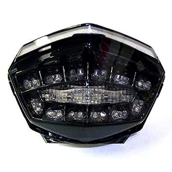 2008-2012 Kawasaki Ninja 250R Smoked Integrated LED Tail Light - 905-4119D