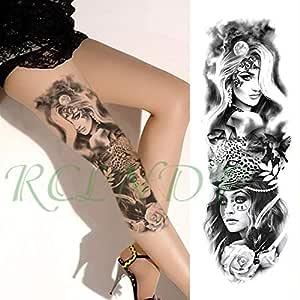 Etiqueta engomada del Tatuaje 3pcs Flor Reloj de Bolsillo Carta ...