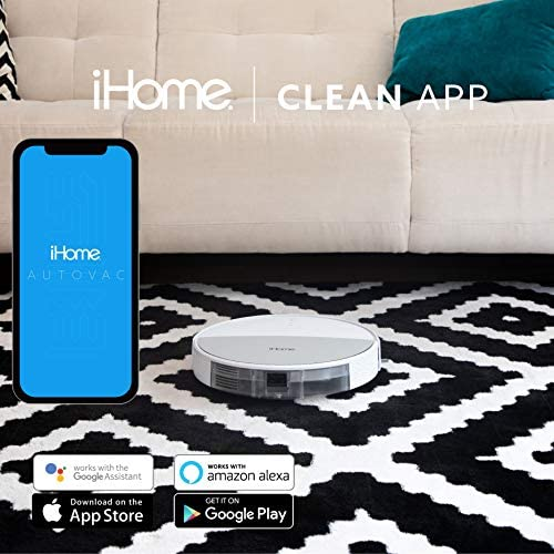 iHome AutoVac 2-in-1 Robot Vacuum and Mop Enabled with Mapping HomeMap Navigation, Ultra Strong Suction Power, HyperDrive Technology for Pet Hair, Hard Floor and Carpet, Alexa/Google and App Control