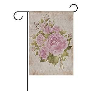 ALAZA Stock-Photo-Abstract-Vintage-Background - Bandera de poliéster para jardín, doble cara, 30 x 45 cm, diseño de flor con flor