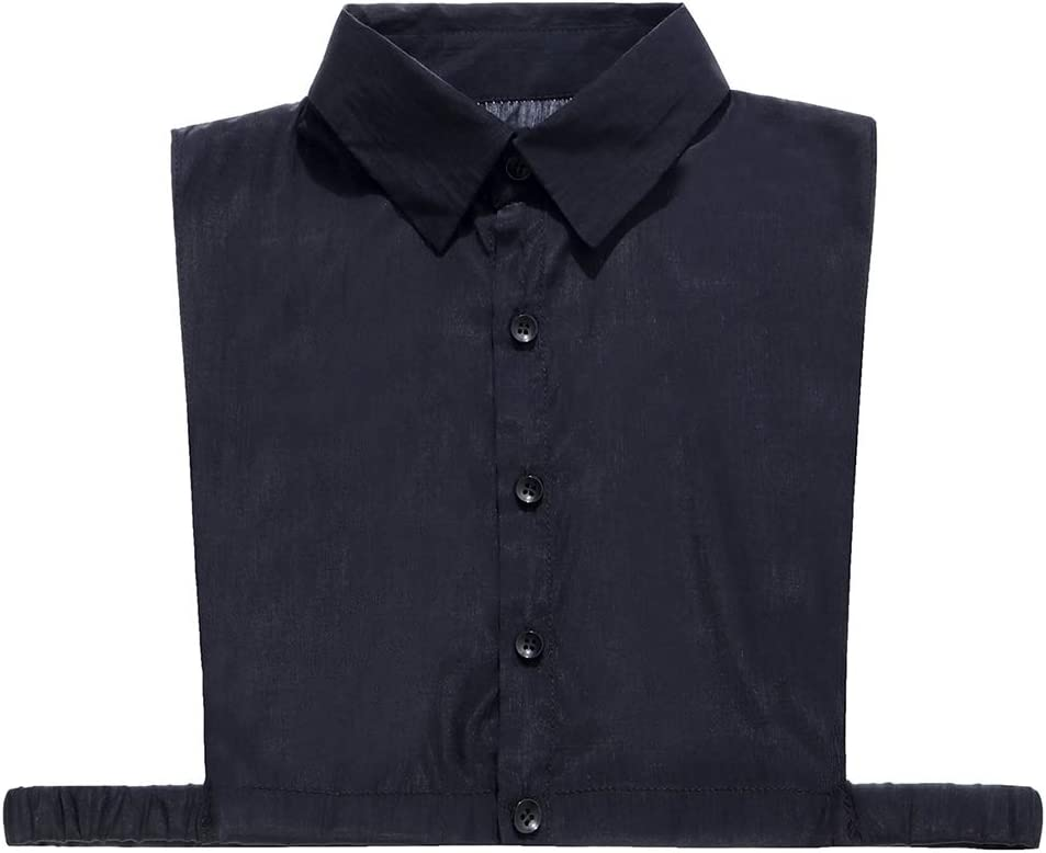 Vxhohdoxs blusa de solapa, cuello falso, desmontable, punta cuadrada, color sólido 1: Amazon.es: Hogar