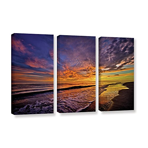 Antonio Raggio's The Sunset, 3 Piece Gallery Wrapped Canvas Set 32X72 by Art Wall