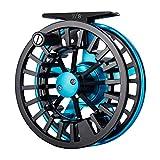 Piscifun Aoka Fly Fishing Reels with Cork/Teflon Disc Drag System 5/6 7/8 wt Blue