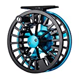 Piscifun Aoka Fly Fishing Reels with Cork/Teflon Disc Drag System 5 6 wt Blue