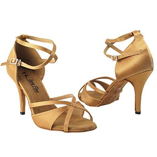 """Gold Taube Schuhe 50 Shades Of Tan Tanzkleid Schuhe Collection-III, Komfort Abend Hochzeit Pumps: Ballroom Schuhe für Latein, Tango, Salsa, Swing, Kunst von Party Party (2,5 """", 3"""", 3,5 """"Heels) 2829l Brauner Satin"""
