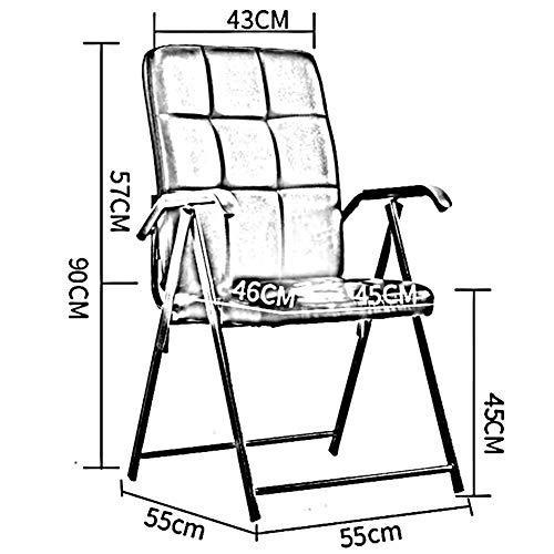 Fällbar stol DALL Mesh skrivbordsstol stålram armstöd personalstolar ländrygg stöd datorstol 55 x 55 x 90 cm (färg: Grå, storlek: 2 delar)