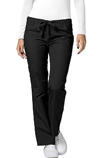 5c2e2de8b69 Adar Universal Womens Low-Rise Multipocket Drawstring Straight Leg Scrub  Pants