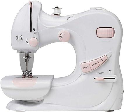 HONGHUIYU Mini máquina de Coser doméstica eléctrica UFR-601 Ajuste ...