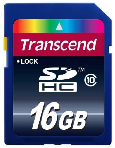 Portable, Transcend TS16GSDHC10 16 GB SDHC Class 10 Flash Memory Card CustomerPackageType: Standard Packaging Size: 16GB Consumer Electronic Gadget Shop by Office4U