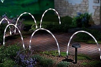 Weihnachtsbeleuchtung Außen Bogen.Garten Mile 6x Led Bogen Rohr Stab Lichter Solar Betrieben Weihnachten Fee Rand Oder Weg Beleuchtung Einzigartig Bright Weihnachtsbeleuchtung Außen