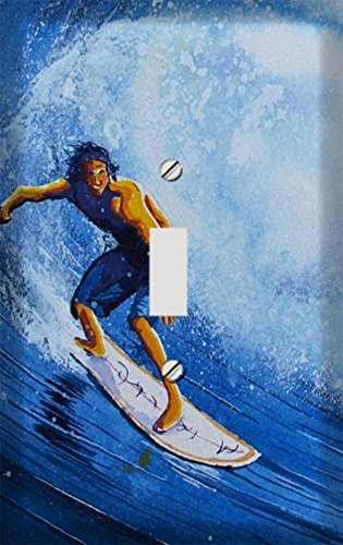 Surfing Switchplate (Surfboard Glory Decorative Switchplate Cover)