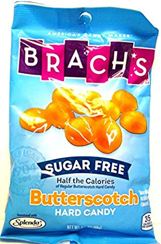 Brach's Sugar Free Butterscotch Hard Candy (Pack of 4) 3.5 oz Bags - Diabetic Sugar Free Candy