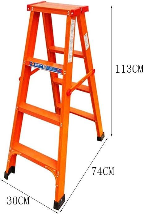 NAI-ladder Escalera de Doble Cara metálica, Escalera de Seguridad Plegable portátil de la Escalera de Tijera Comercial portátil de Las Operaciones Que Sube (Size : 30 * 74 * 113CM): Amazon.es: Hogar