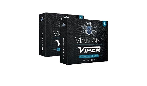 Viaman Viper- 8 unidades | Pastillas para la erección | Evita la eyaculación precoz y mejora el rendimiento sexual | Suplemento para la Impotencia Sexual ...