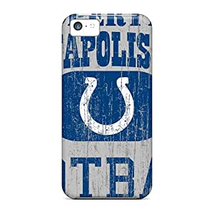 Rugged Skin Case Cover For Iphone 5c- Eco-friendly Packaging(indianapolis Colts)