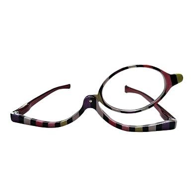 30b9cdd1a303e0 Inlefen Femmes de mode de cadre multicolore faisant des verres de lecture  avec un lentilles de