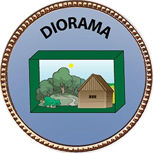 Diorama Award, 1 inch dia Gold Pin