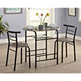 3 Piece Bistro Set Multiple Colors Home Furniture Pub Table Dining 1 And 2 Chairs Lower Shelf Made Of Particleboard With Laminate