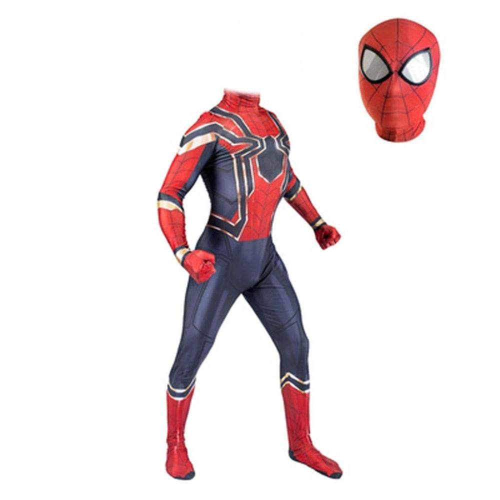 barato Medium gikmhyb Avengers Iron Spider-Man CosJugar Traje Traje Traje Spiderman Zentai Traje Jumpsuit Onesies Impresión Hoodie Disfraz De Halloween Fiesta De Película súperhéroe,Medium  Venta barata