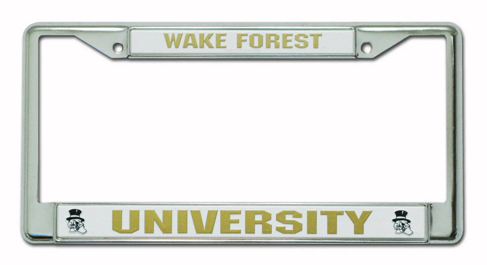 Rico Industries NCAA Wake Forest Demon Deacons Standard Chrome License Plate Frame Inc FC130310