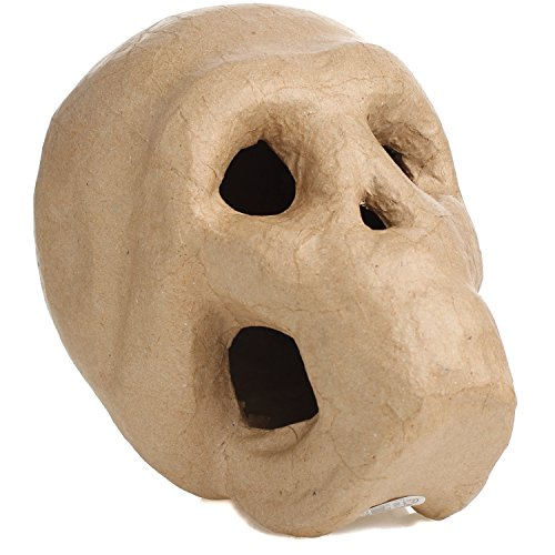 Factory Direct Craft Life Size Paper Mache Skull for Halloween, Gothic and Day of The Dead ()