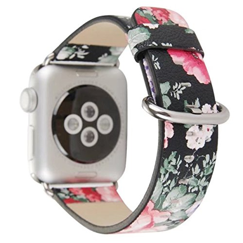 Price comparison product image Urberry 38mm Woven Nylon Fabric Replacement Band for Apple Watch Series 2, Series 1, Sport, Edition (Flower3)