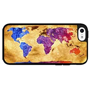 Antique World Map with Colorful Countries Hard Snap on Phone Case (iPhone 5c)