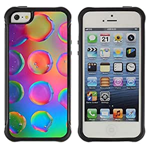Jordan Colourful Shop@ Water Droplets Colorful Neon Pink Bright Rugged hybrid Protection Impact Case Cover For iphone 5S CASE Cover ,iphone 5 5S case,iphone5S plus cover ,Cases for iphone 5 5S
