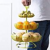 KathShop Three - Layer Fruit Basket Multi - Functional European Fruit Plate Household Living Room Fruit Plate Creative Fruit Shelf