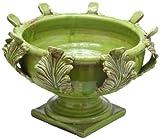 Abigails 13.75 by 13.75 by 10-Inch Acanthus Vinci Centerpiece, Medium, Green