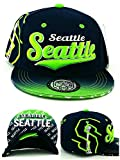Seattle New TopPro Kids Youth City Seahawks Colors Blue Lime Green Era Snapback Hat Cap